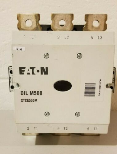 USED Eaton Contactor DIL M500 / DILM 500 XTCE500M 110V-250VCoil 40-60hz