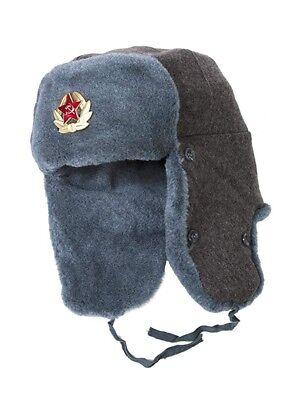 Authentic Soviet Union Military Soldier Winter Hat USHANKA