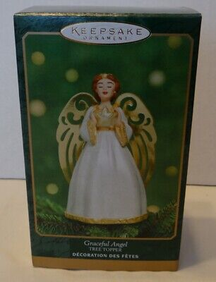 Hallmark Graceful Angel Tree Topper Keepsake Miniature Christmas Holiday