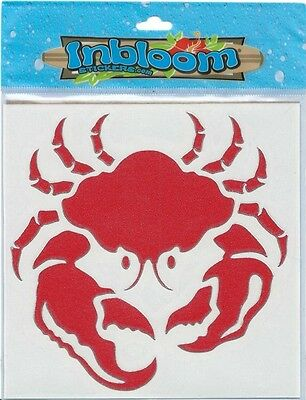 Inbloom Stickers (Red Crab Vinyl Sticker 5x5 Chrome Border Inbloom Stickers)