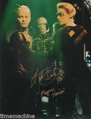 """Kirk Bailey Magnus Hansen STAR TREK Voyager """"The Dark Frontier"""" 8x10 AUTOGRAPHED"""