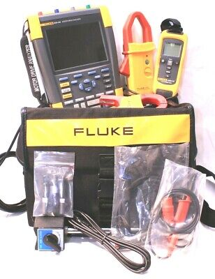 Fluke Mda-550 Motor Drive Analyzer Portable Oscilloscope Kit Current Clamps More