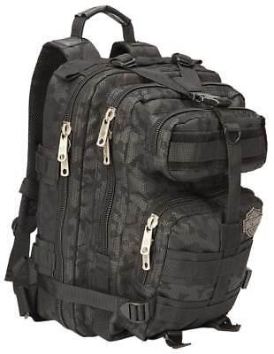 "Harley-Davidson ""Molle"" Night-Vision Backpack, Gray & Black 99401-NIGHT"