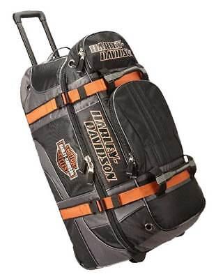 "Harley-Davidson Bar & Shield Logo 22"" Carry-On Wheeling Duffel Bag 99415-BLACK"
