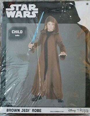 Disney Star Wars Child NEW Brown Jedi Robe Costume Up to Size 10 - Jedi Robe Child