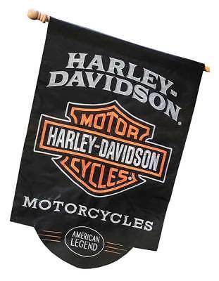 Harley-Davidson American Legend Sculpted Applique House Flag, 28 x 44 in 154900