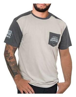 Harley-Davidson Mens Bar /& Shield Short Sleeve T-shirt Charcoal Tee 30291958