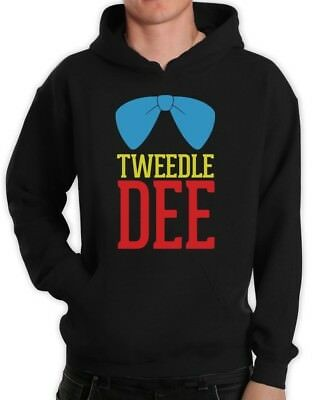 Tweedle Dee Costume Hoodie Matching Couples Halloween Party Cute Love Hooded
