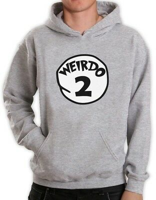 Weirdo 2 Costume Hoodie Halloween Party Weirdo 1 2 Thing Matching couples Hooded - #1 Couple Halloween Costumes