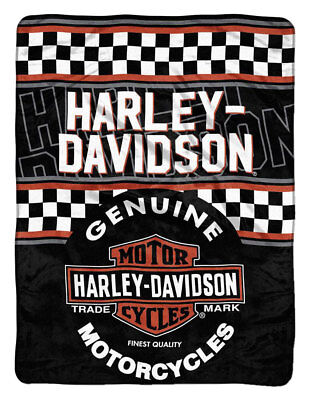 Harley-Davidson Finish Line Micro Raschel Throw Blanket, 46 x 60 inch NW079922