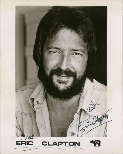 Eric Clapton w/reproduction signature archival quality,  001