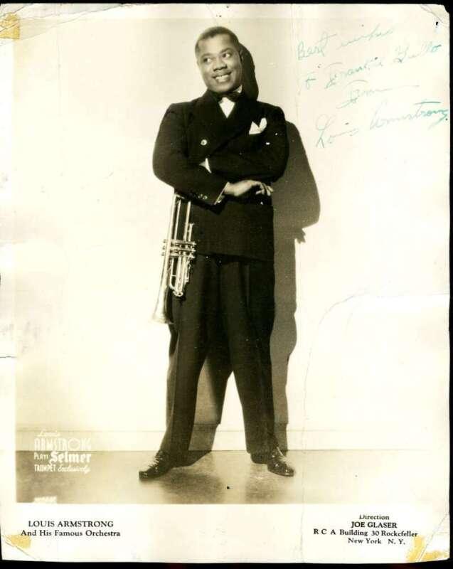Louis Armstrong JSA Loa Signed 8x10 Photo Autograph