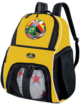Soccer Backpack Ball Bag Volleyball Gear Bags World Cup Fan Design Theme
