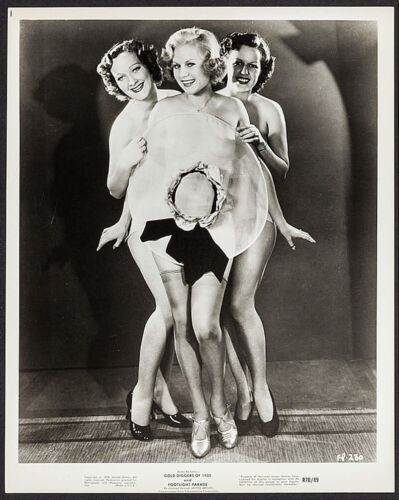 Gold Diggers of 1935 Footlight Parade Movie Film Vintage 8x10 1970 Photograph