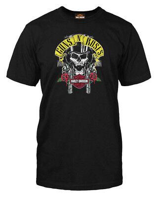 (Harley-Davidson Men's Guns N' Roses Rage Top Hat Skull Short Sleeve T-Shirt)