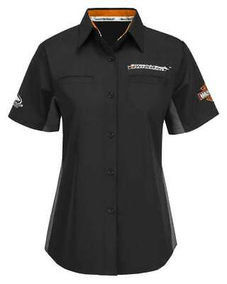 Harley-Davidson Women's Screamin' Eagle Competitor Crew Shop Shirt Black Screamin Eagle