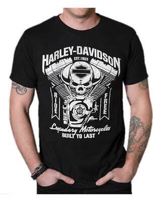 Harley T Shirts (Harley-Davidson T-Shirts 100% Cotton Size M-3XL US Men's Clothing Trend)