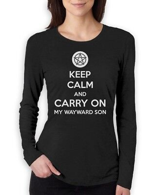 Carry On Long Sleeve - Keep Calm and Carry On My Wayward Son Women Long Sleeve T-Shirt Supernatural