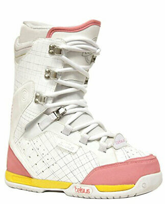 Celsius Belmont White Pink Women's Snowboard Boots NEW MEMORY FOAM