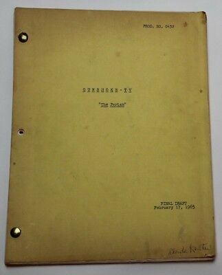 Gunsmoke / Calvin Clements 1965 TV Script, James Arness Episode