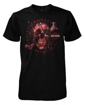 Harley Davidson Mens Apparition Skeleton Skull Short Sleeve T Shirt  Black