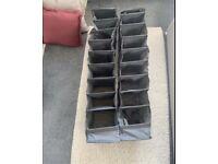 Hanging shoe storage