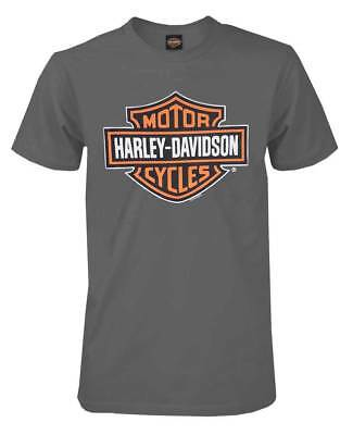 Harley-Davidson Mens Bar & Shield Short Sleeve T-shirt, Charcoal Tee 30291958
