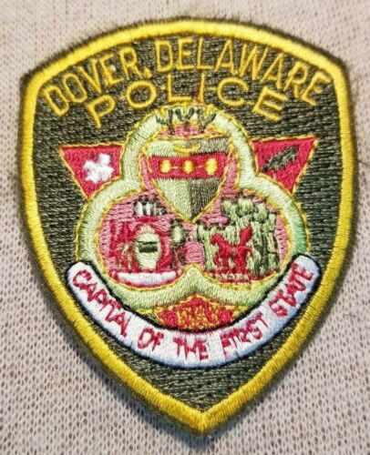 DE Dover Delaware Police Patch (2.75In Mini Patch)