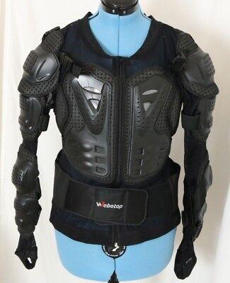 Webetop Back Chest Spine Protector Adjustable Dirt Bike MX Armor Pads Kid's XXXL