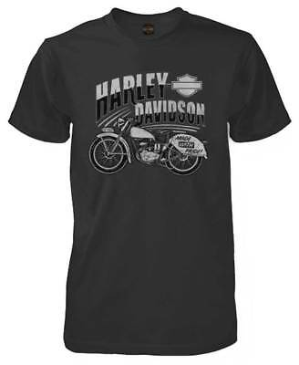Harley-Davidson Men's American Made Premium Short Sleeve Crew-Neck T-Shirt, Coal American Made Tee Shirts
