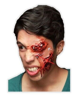 Knockout Latex Appliance Halloween Bloody Swollen Eye Gash Prosthetic Make-up - Halloween Make Up Bloody Eye