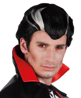 Karneval Klamotten Kostüm Perücke Vampir Dracula Mann Kurz - Kostüm Kurze Perücke Schwarz