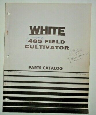 White 485 Field Cultivator Parts Catalog Manual Book Original 176 Wfe