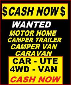WANTED Motor Home, Camper Van, Caravan OR Camper CASH NOW $$$$$$$ Brisbane Region Preview