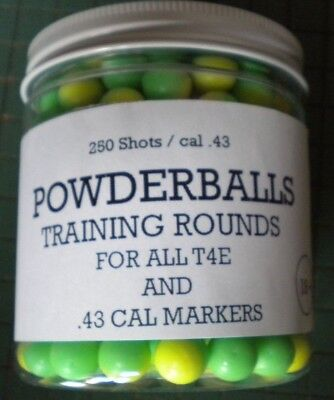 Powder Balls, .43 caliber rounds Powder Marking Balls, T4E, 250 count