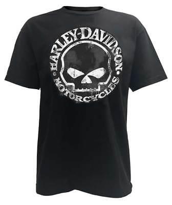 Harley-Davidson Men's T-Shirt, Hand Made Willie G Skull Distressed 30294030 ()