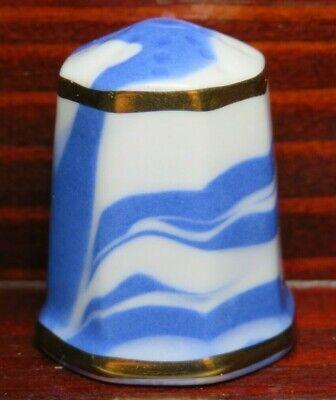 WHIELDON WARE THIMBLE - BLUE & WHITE