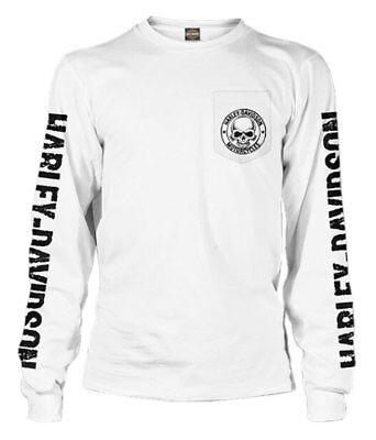 Harley-Davidson Men/'s Alliance Chest Pocket Long Sleeve T-Shirt Safety Green