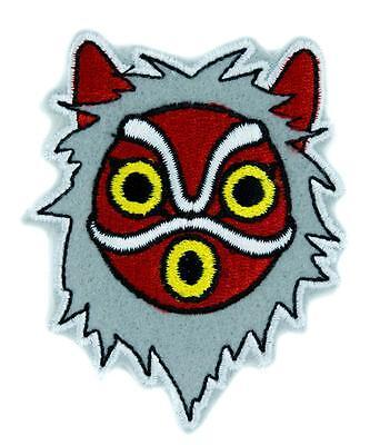 Princess Mononoke San Wolf Mask Patch Iron on Applique Alternative Clothing Anim (Anime Wolf Mask)