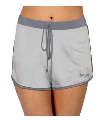 Harley-Davidson Women's Willie Go Embellished Sleep Lounge Shorts, Gray Harley Davidson Lounge Pants