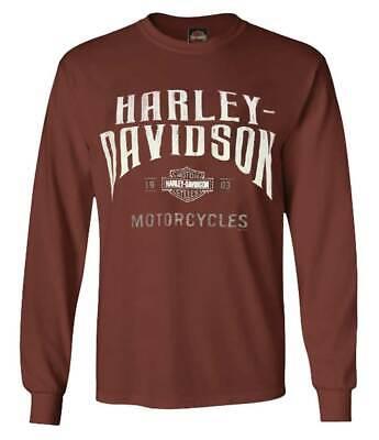 Harley-Davidson Homme vertueux à encolure ras-du-Cou Chemise Manches Longues-Vert forêt