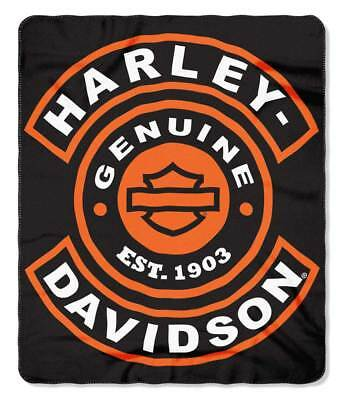 Harley-Davidson Syndicate H-D Fleece Blanket, 50 x 60 inches, Black NW997172