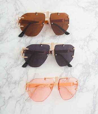 Aviator Sunglasses Rimless Metal Frame (Rimless Aviator Sunglasses)