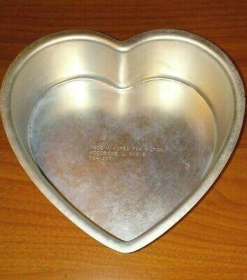 WILTON 6 Inch Aluminum Heart Shaped Cake Pan 2 inch deep
