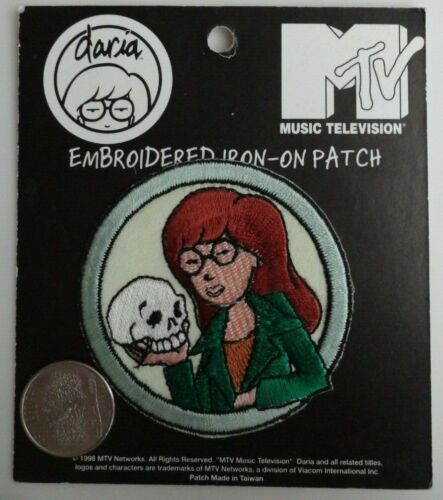 Daria Morgendorffer MTV Cartoon Embroidered Iron On Patch Applique 1998 Rare