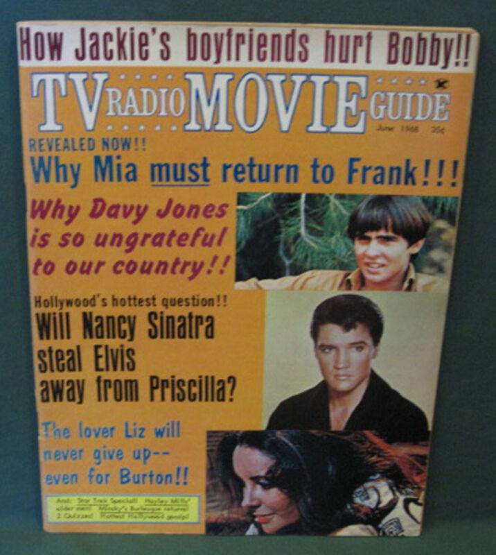 Elvis Presley TV Radio Movie Guide Magazine 1968 Monkees