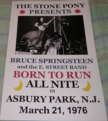 BRUCE SPRINGSTEEN STONE PONY 1976 REPLICA CONCERT POSTER W/PROTECTIVE SLEEVE