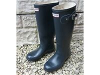 Hunter Women's Original Tall Wellies Navy W23499 (4 UK, EU 37) Navy Used