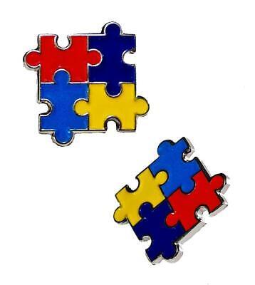 2 Pack Autism Awareness Puzzle Pieces Lapel Hat Pins Raise Awareness 7303](Blue Puzzle Piece Lapel Pin)