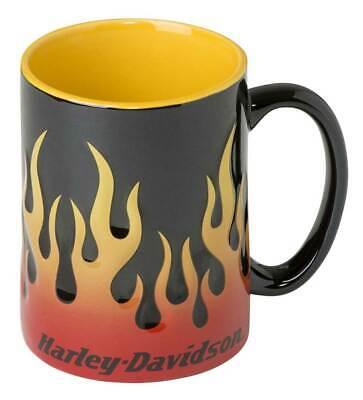 Harley-Davidson Core Sculpted Flames Coffee Mug, 15 oz. - Black HDX-98604